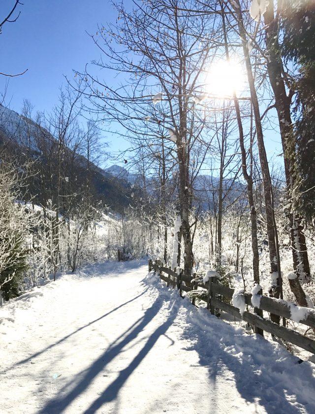 Schneewanderung in Kleinarl, Österreich