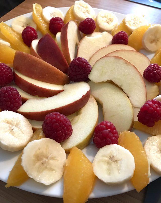Obstmandala für die Freitagslieblinge