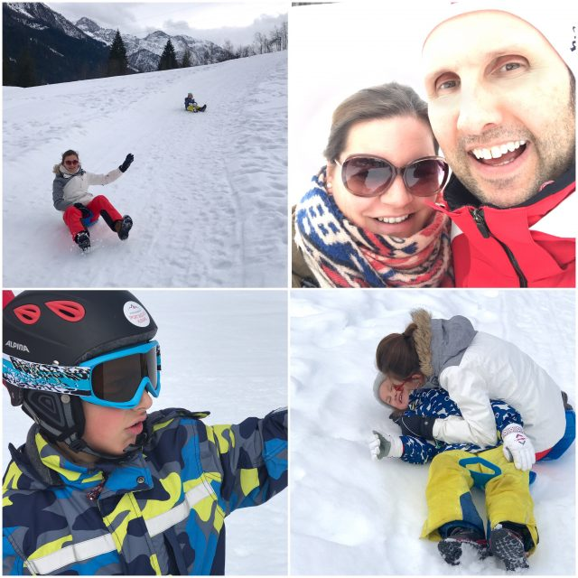 Familie Berlinmittemom im Skiurlaub