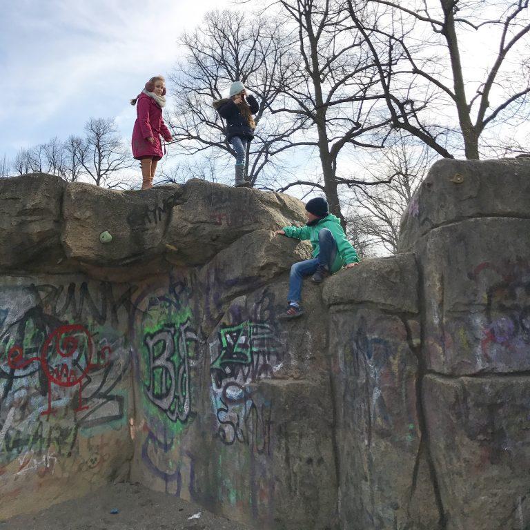 Kletterfelsen im Volkspark Friedrichshain