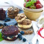 Eis Sandwich selbstgemacht! ::: Laktosefreies Cremissimo Eis trifft Brownie