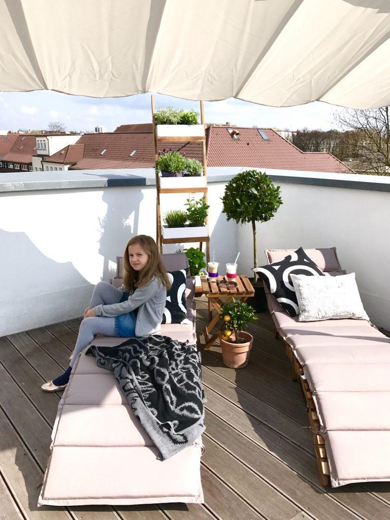 Sonnenschutz auf der Dachterrasse | Berlinmittemom.com