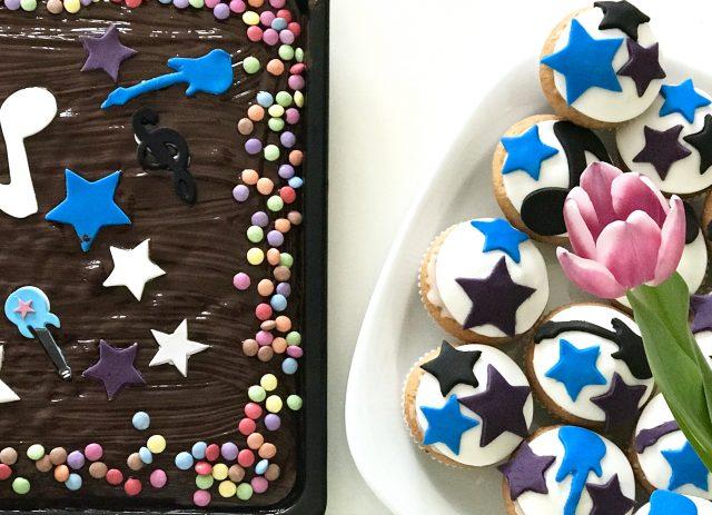Rockstar Kuchen und Muffins zur Rockstarparty   Berlinmittemom.com