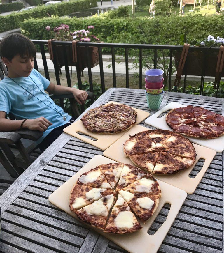 Wochenende in Bildern: Pizzafütterstrecke für sechs Kinder | Berlinmittemom.com