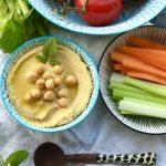 Sommerdip mit Rohkost ::: Selbstgemachter Hummus