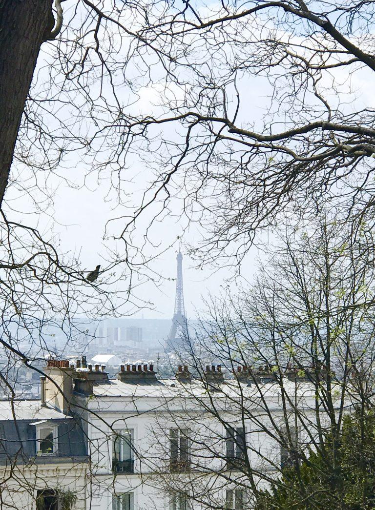 Blick auf den Eiffelturm von Montmartre | Berlinmittemom.com