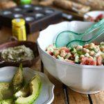 Salada de Grao de Bico ::: Portugiesischer Kichererbsensalat mit Minze