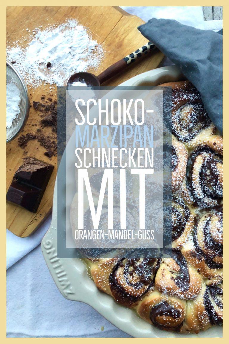 Schoko-Marzipan-Schnecken mit Orangen-Mandel-Guss | berlinmittemom.com