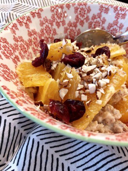Mehrkorn-Porridge mit Zimt und Orangen | berlinmittemom.com
