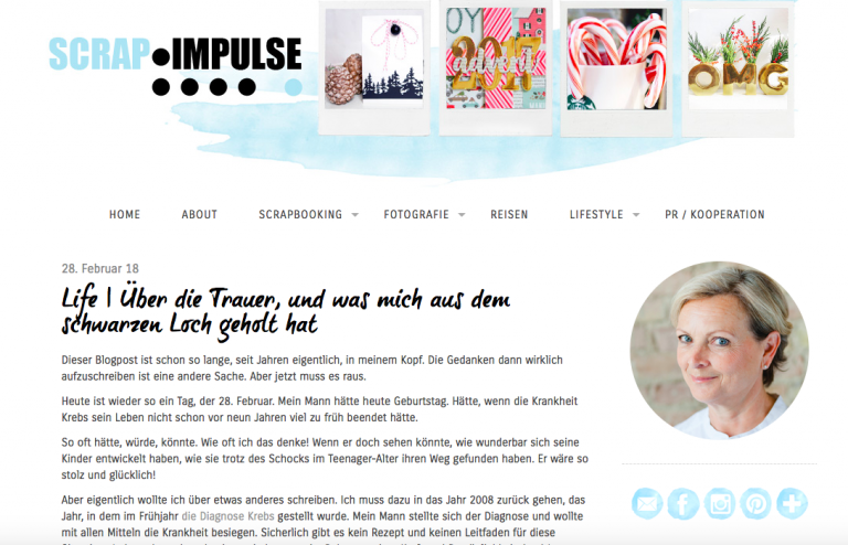 Scrapbook Impulse: Über Trauer | berlinmittemom.com