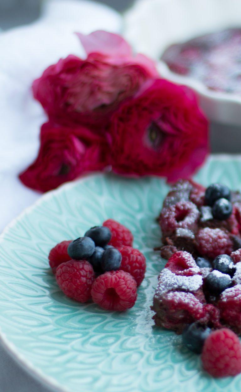 Rezept für Himbeer Brownies ohne Zucker | berlinmittemom.com