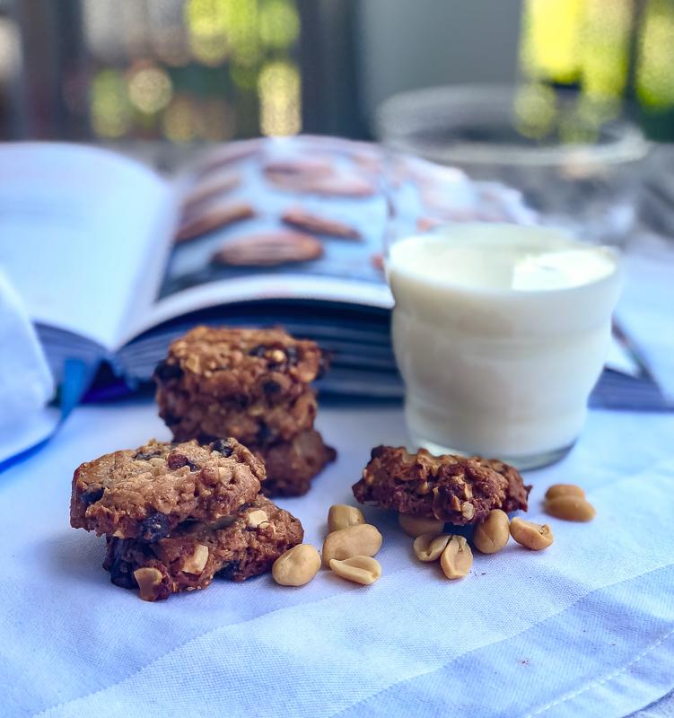 Erdnussbutter Haferflocken Kekse mit Schokodrops   berlinmittemom.com