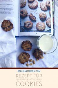 Rezept für Erdnussbutter Haferflocken Kekse   berlinmittemom.com