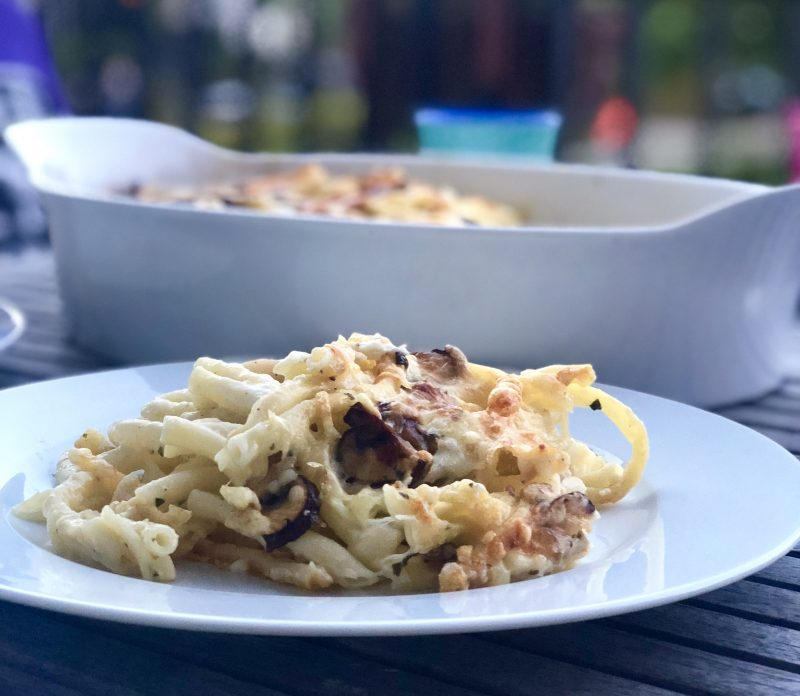 Maccheronigratin mit Pilzen | berlinmittemom.mcom