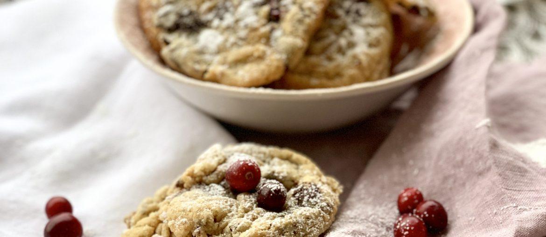 Weihnachtliches Rezept für Cranberry Schoko Cookies   Mitbringsel aus New York