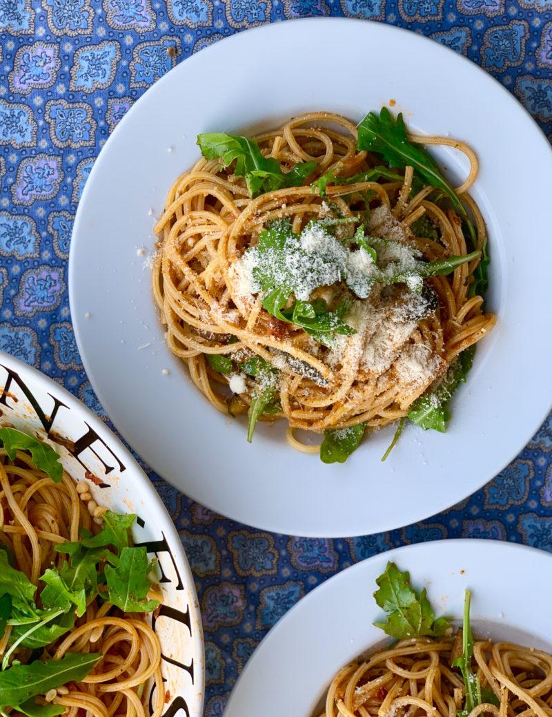 Rezept für Pasta mit gegrilltem Gemüse | berlinmittemom.com