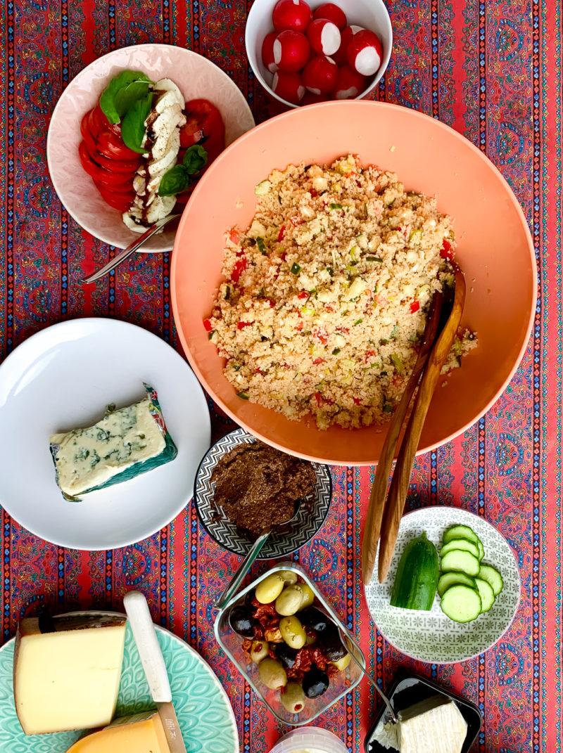 Couscous Salat mit Gemüse und Rohkost | berlinmittemom.com