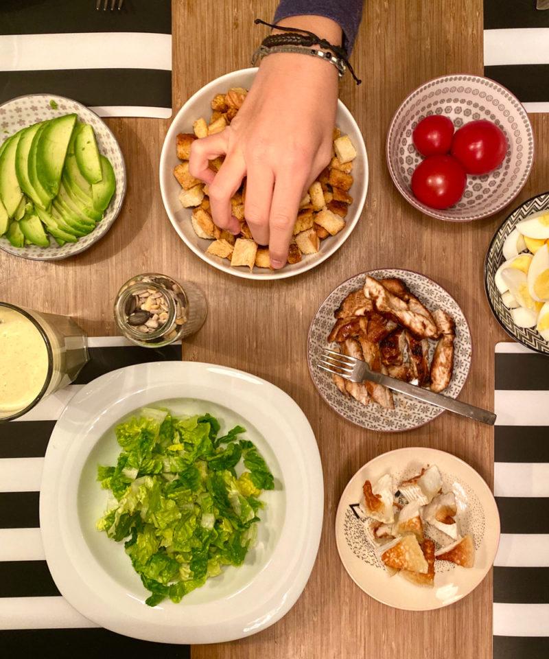 Vegetarischer Caesar's Salad | berlinmittemom.com