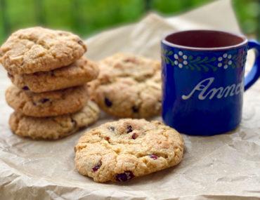 Rezept für Cookies mit Cranberries und weißer Schokolade | berlinmittemom.com