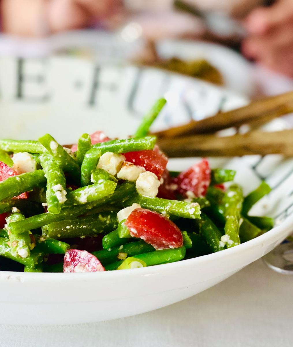 Rezept für Bohnen-Tomatensalat mit Feta | berlinmittemom.com
