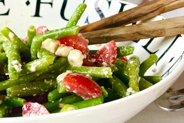 Bohnen Feta Salat mit Mandeln | berlinmittemom.com