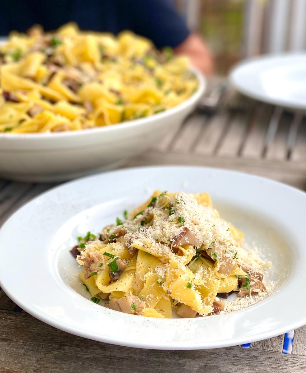 Pappardelle mit Pilzen | berlinmittemom.com
