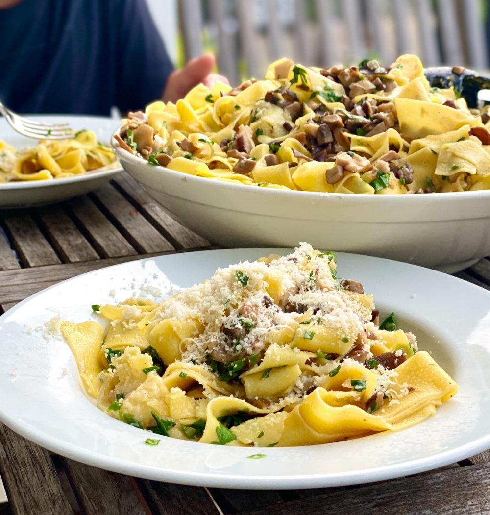 Rezept für Pasta mit Pilzen   berlinmittemom.com