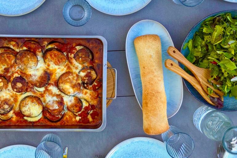 Auberginen Auflauf mit Mozzarella | berlinmittemom.com