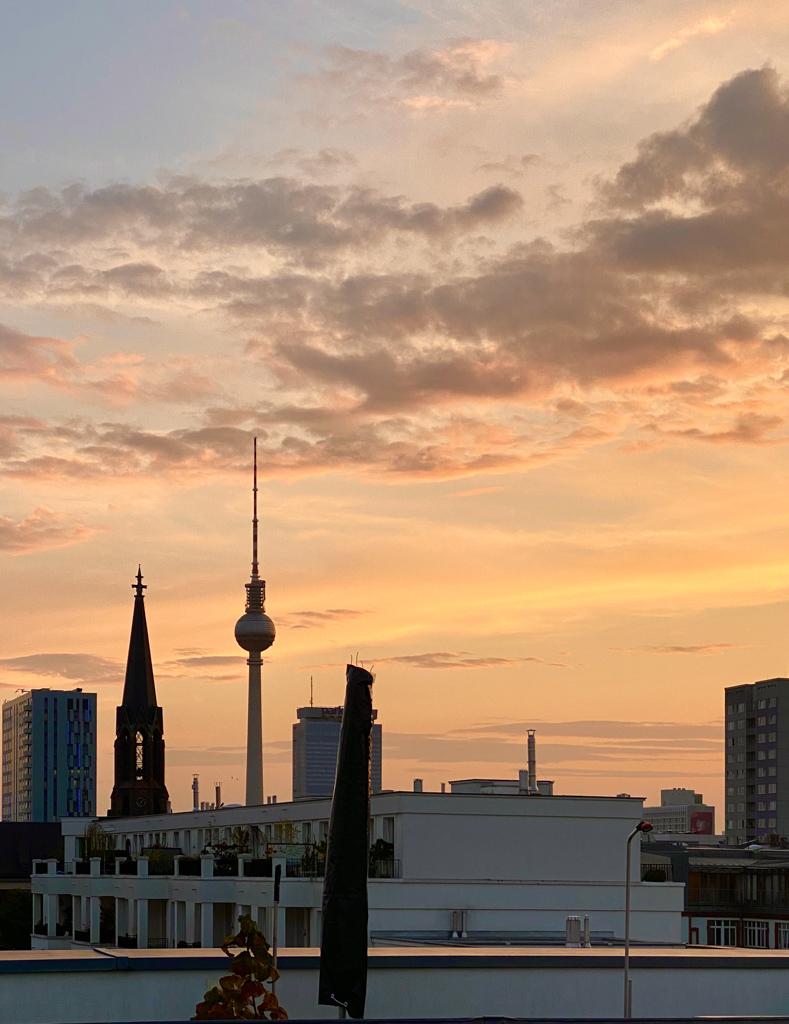 Sonnenuntergang auf der Dachterrasse | berlinmittemom.com