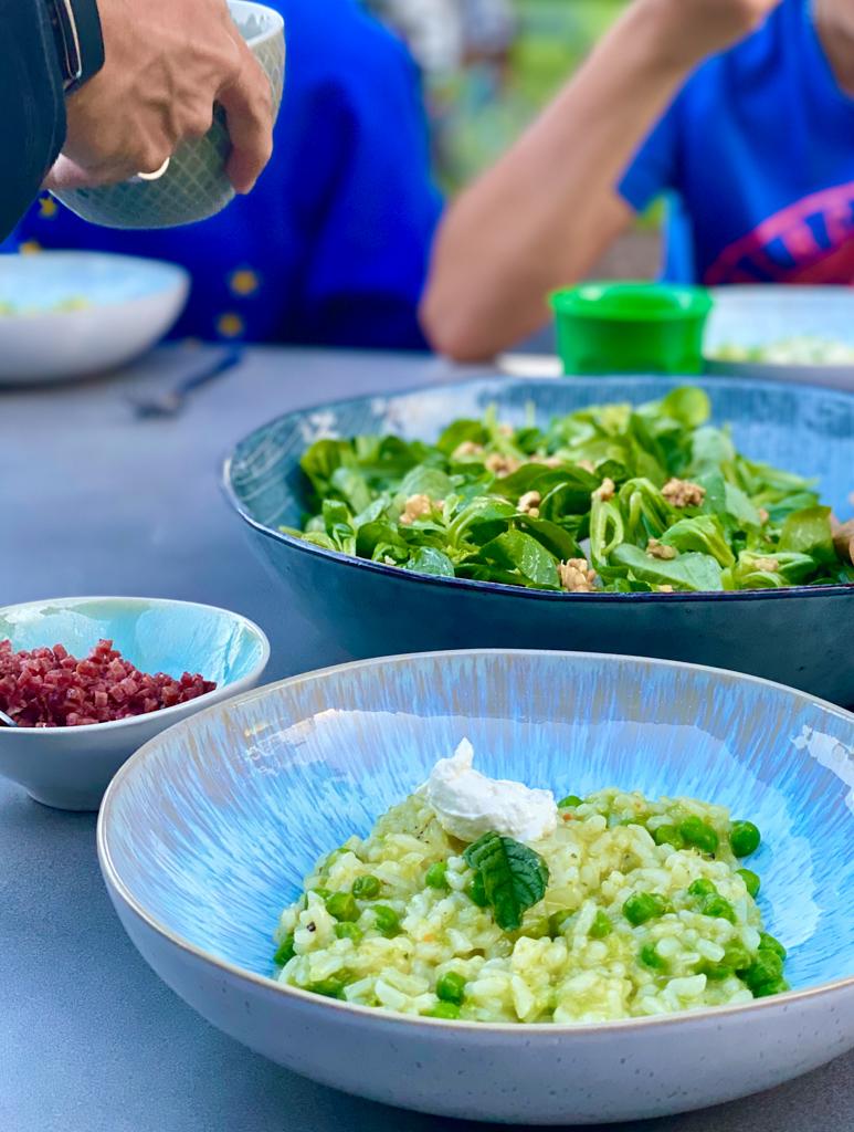 Grünes Risotto mit Erbsen und Minze | berlinmittemom.com