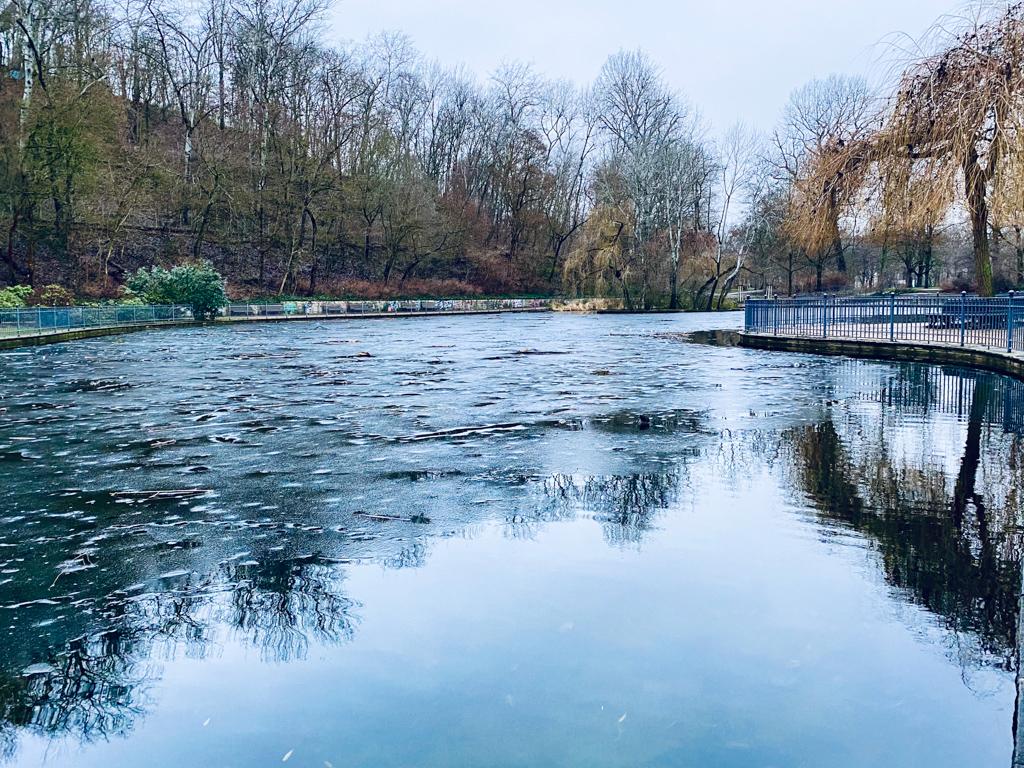 Eis auf dem Teich, Volkspark Friedrichshain | berlinmittemom.com