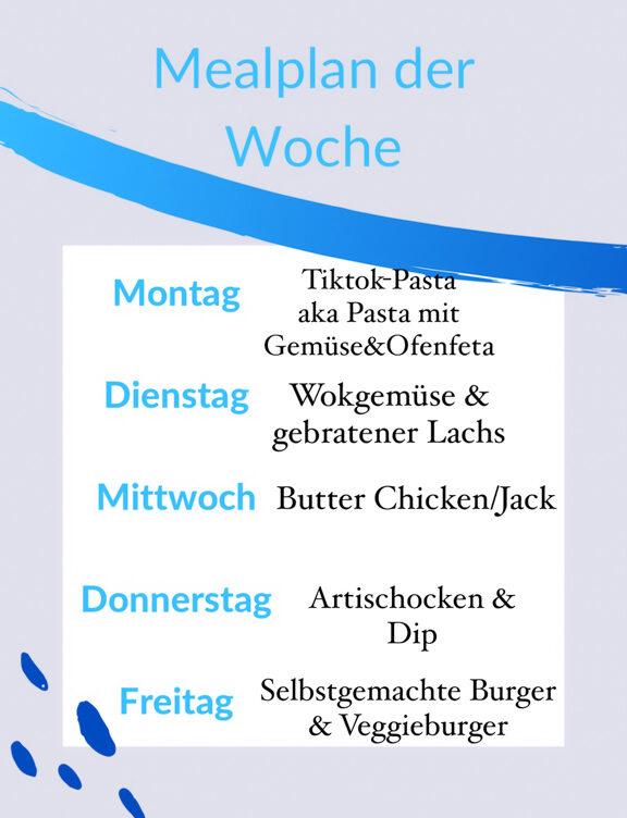 Mealplan der Woche | berlinmittemom.com