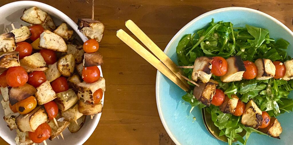 Panzanella Spieße mit Salat | Morgenseiten vom Darß 20/34
